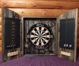 Dartboard cabinet from pallets