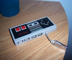 Clean 4 Port NES USB 2.0 HUB on the Cheap