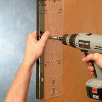 Drill Holes for Shelf Pins