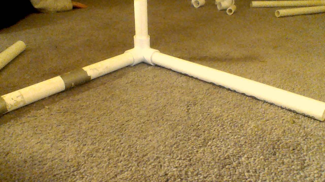 Picture of Third Step to Making the Letters V and P Out of PVC Pipe