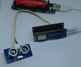 Display distance by Ultrasonic sensor and Upload to ThingSpeak