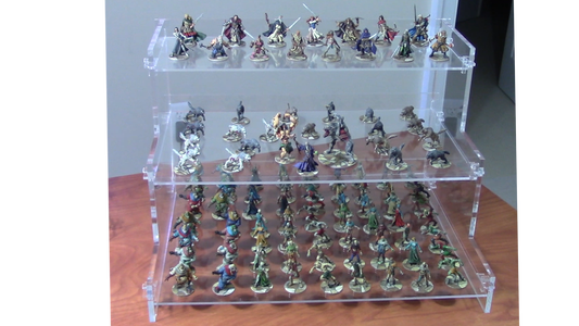 How to Design and Laser Cut Display Shelves for Miniature Models