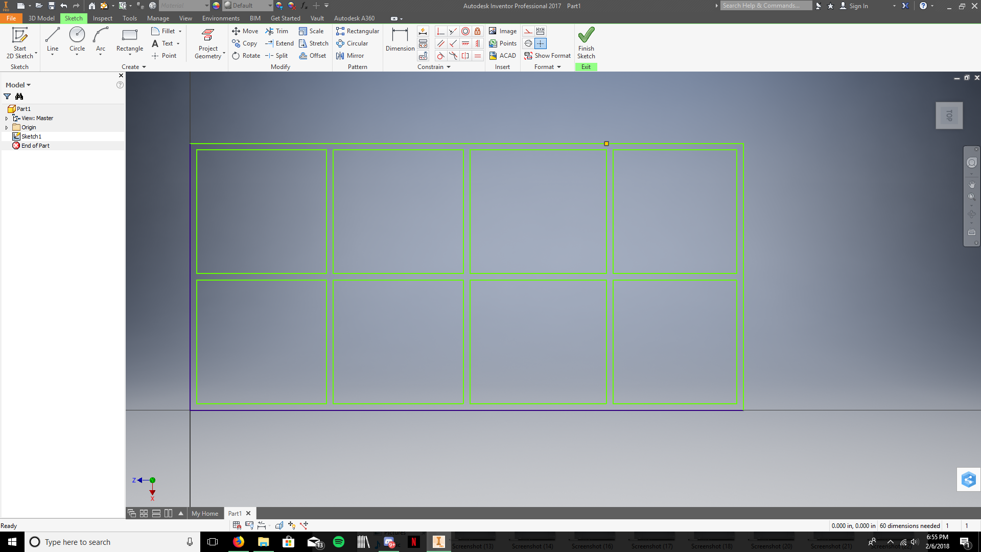 Picture of Trim the Lines Between the Divider