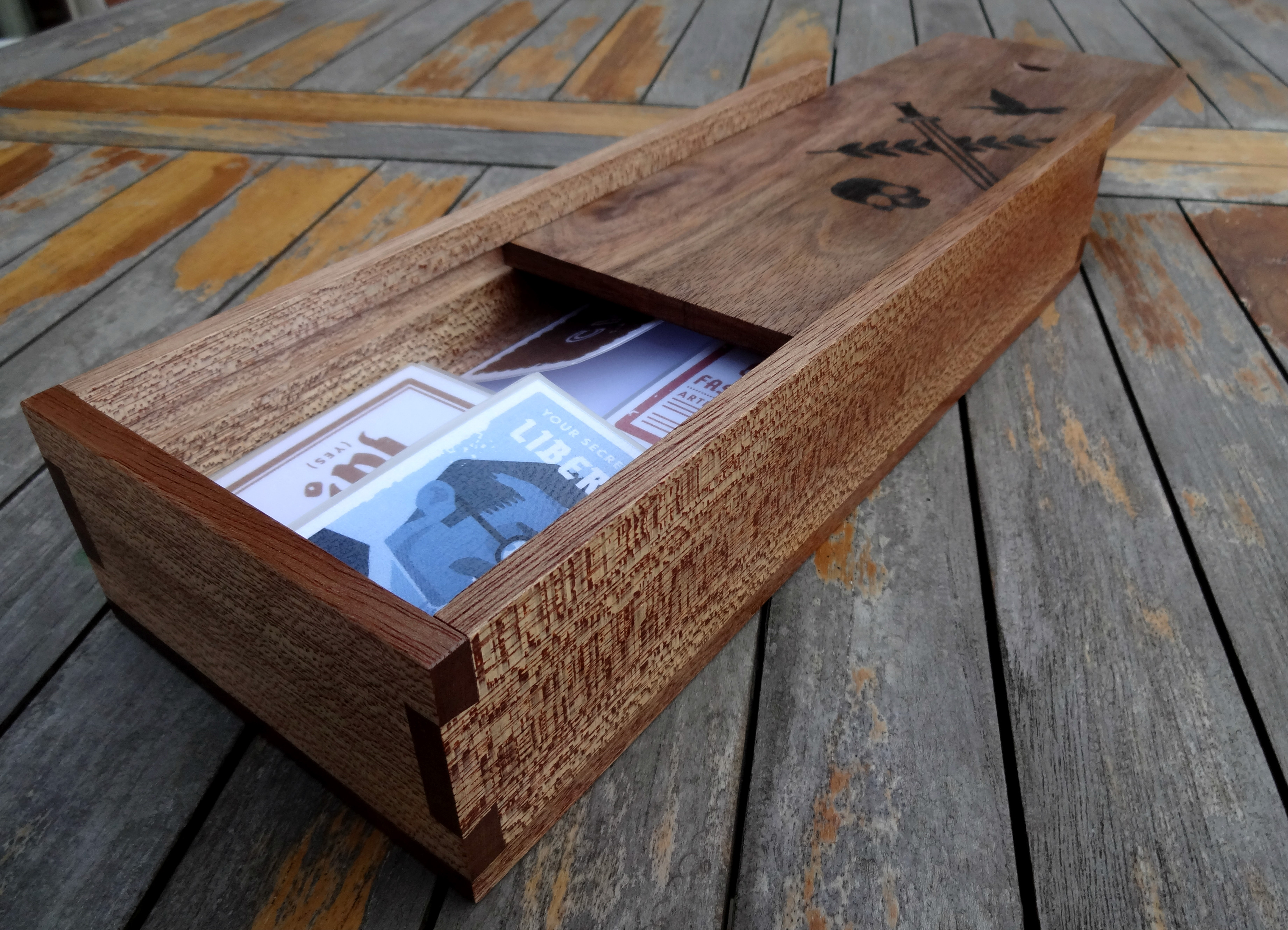 Picture of Secret Hitler Dovetail Box (only Hand Tools)