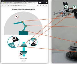 Arduino - Control Robot Arm Via Web