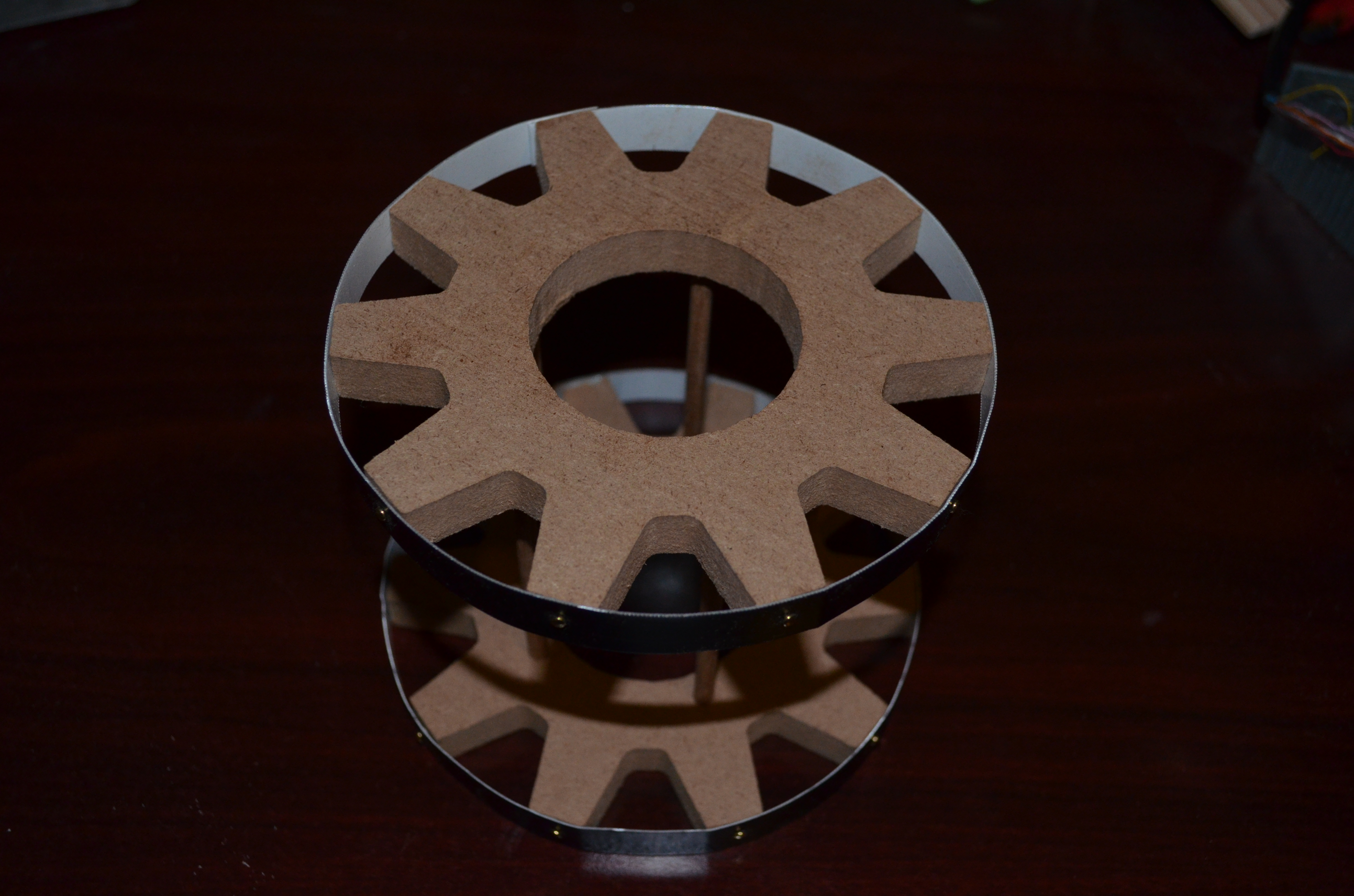 Picture of Glue the Gears and the Dowels Together