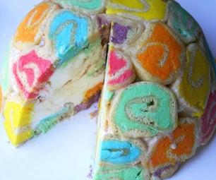 How to Make a Rainbow Bombe Cake