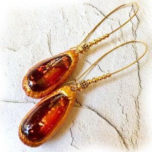 Faux Amber Earrings!