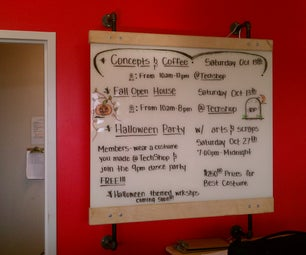 How to Make a Plywood Hanging White Board Frame