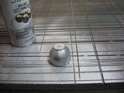 Painting Base Coat on Mixer