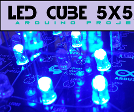 Led Cube 5x5x5 (Arduino Project)