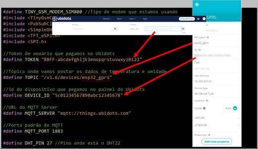 GPRS_ESP32_DHT.ino - Declarations and Variables