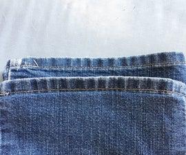 Keeping the Original Hem on Jeans