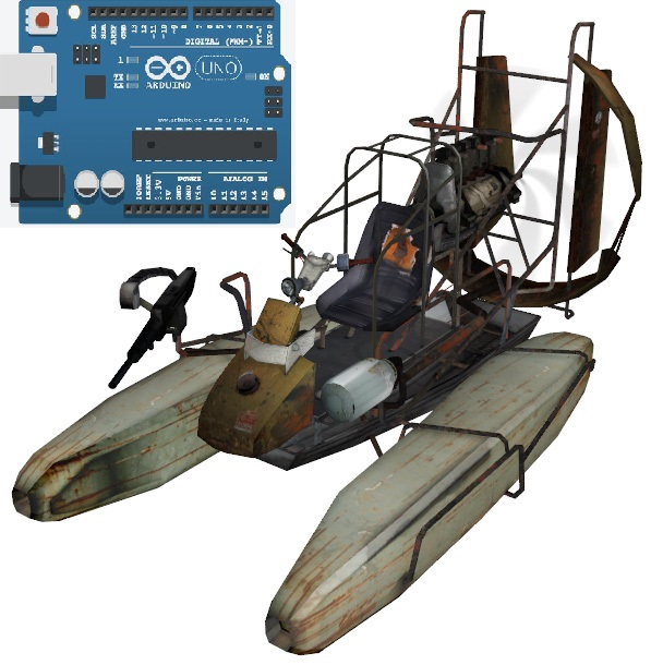 Picture of Arduino Uno Airboat Controlled W/ Joystick and DC Motor