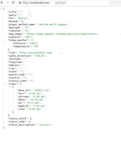 Technical Details: the API
