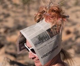 Newspaper Sun Bonnet
