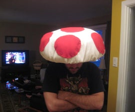 Create a Mushroom Hat (a la Toad from Nintendo's Super Mario Brothers) with closet junk!