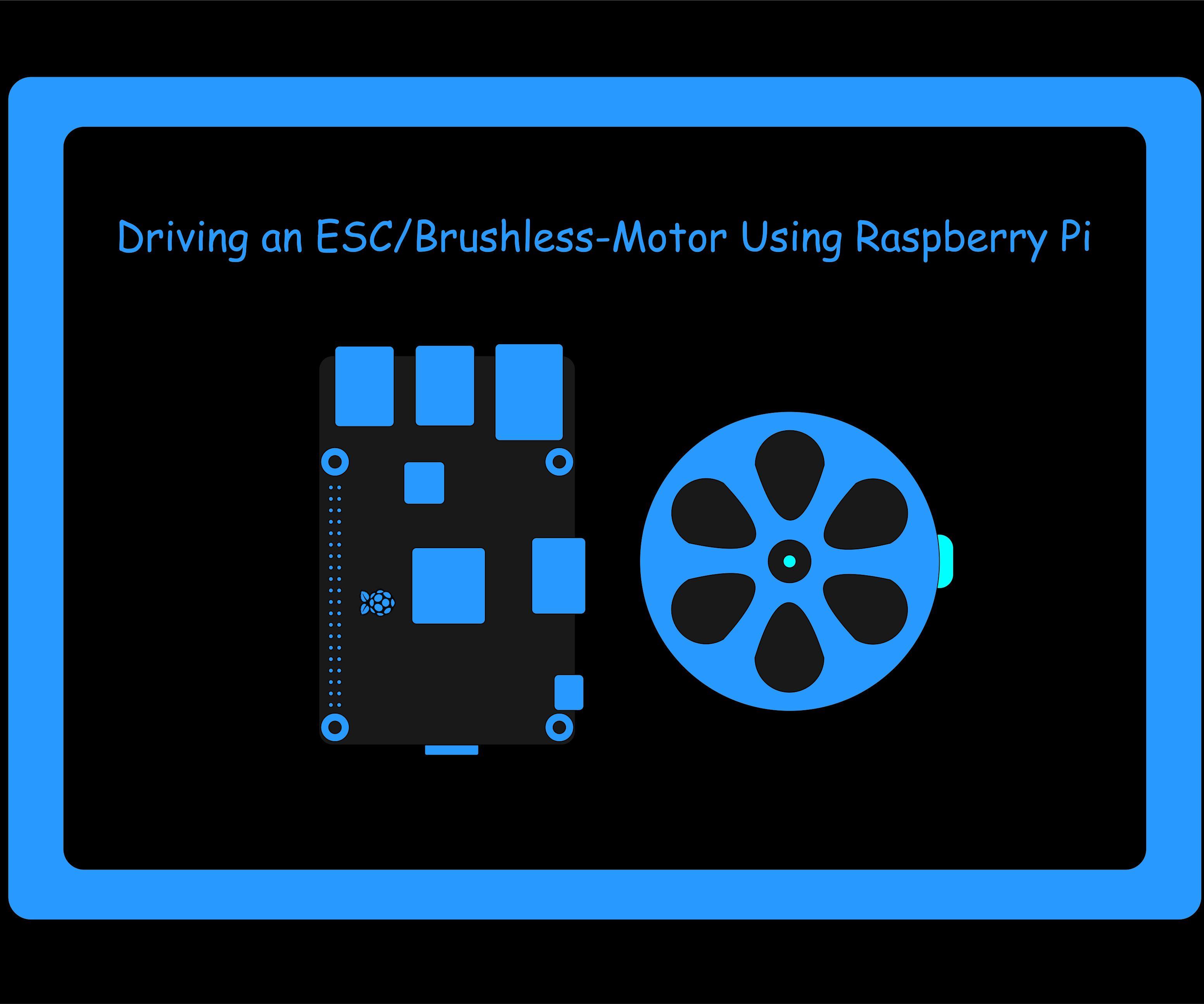 Driving an ESC/Brushless-Motor Using Raspberry Pi : 5 Steps