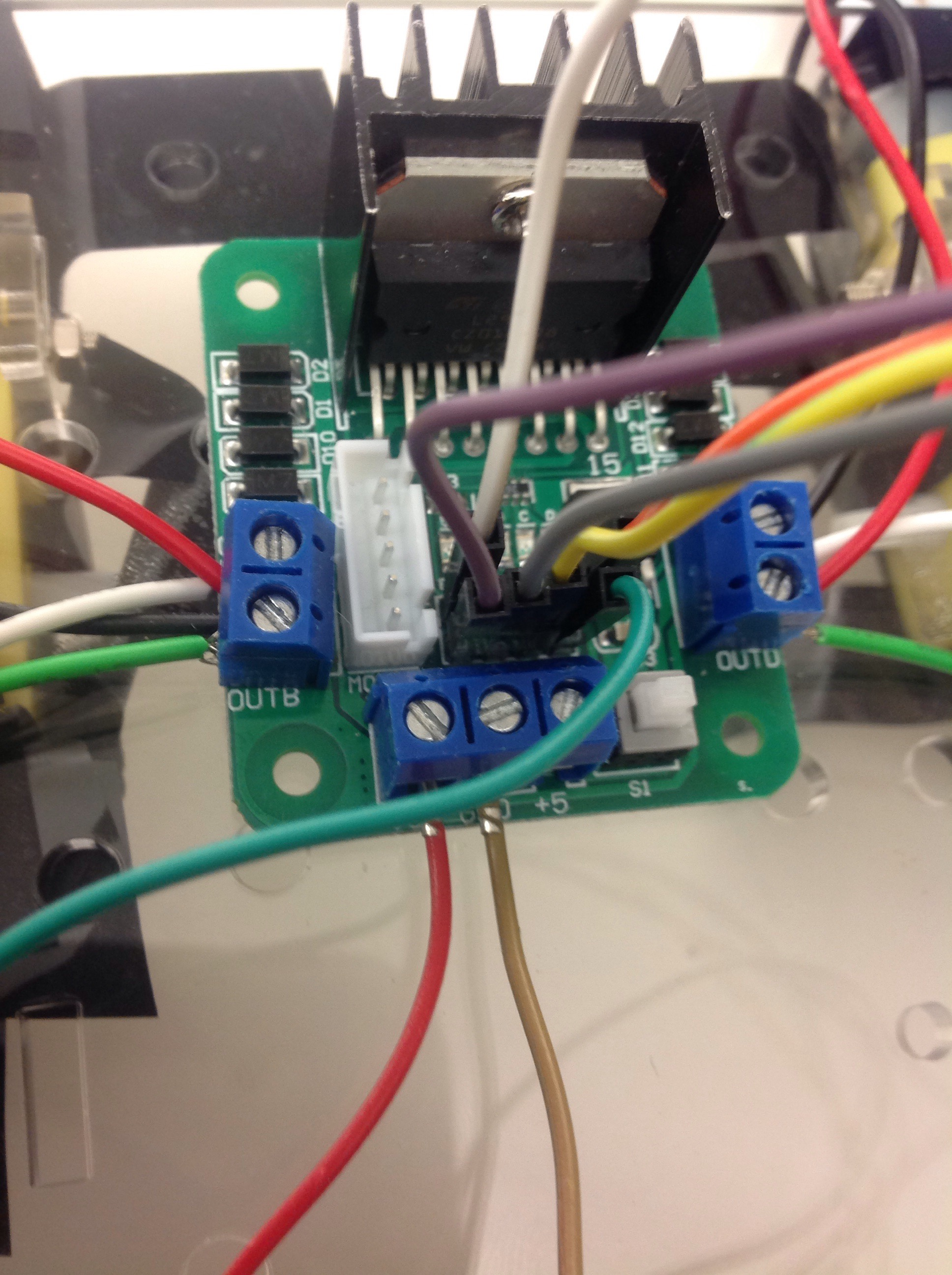 Picture of Connections (Arduino to Motor Driver)