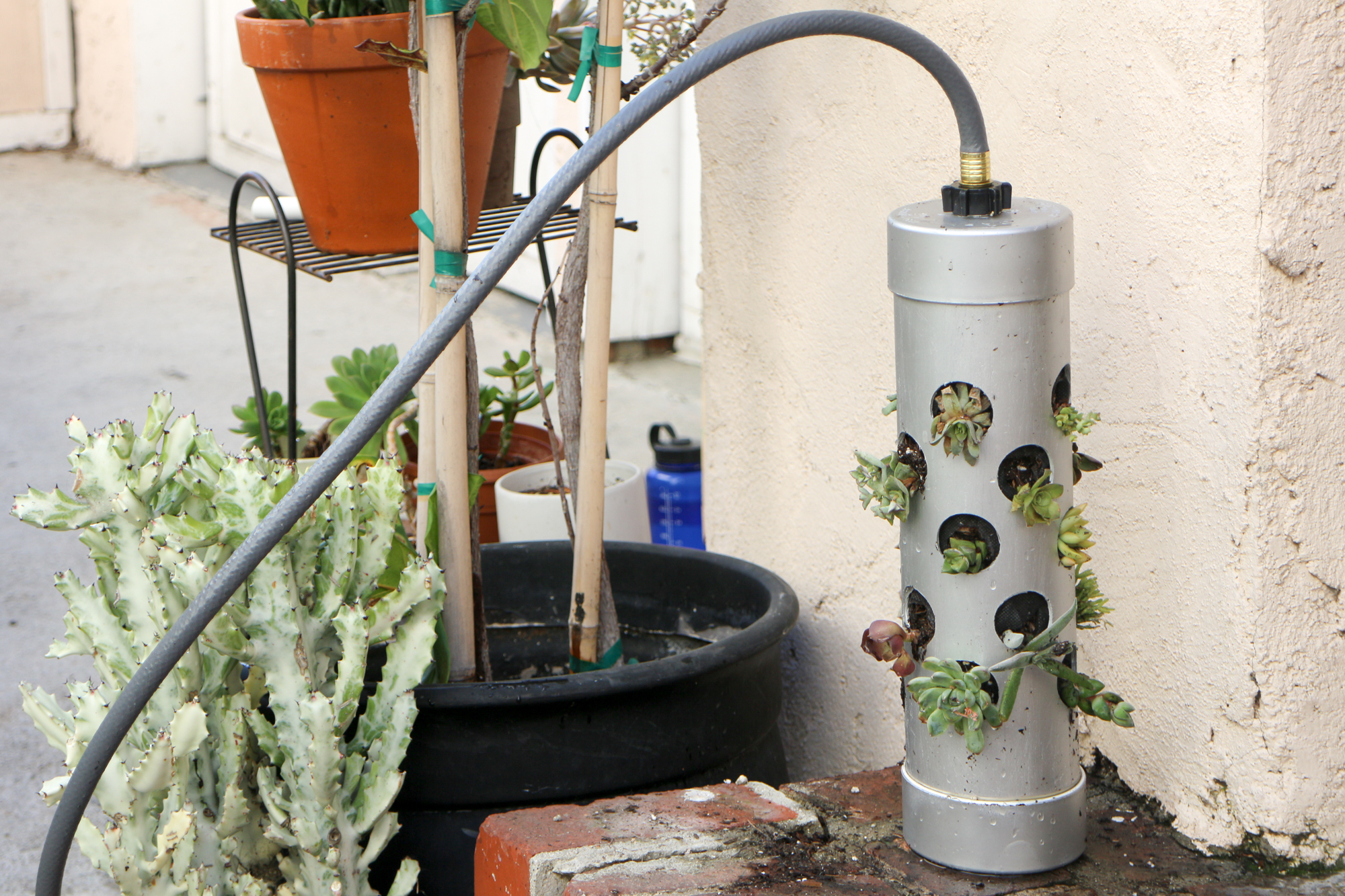 Vertical Gardening Pipe 11 Steps With Pictures Instructables