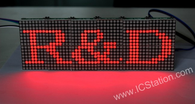 Picture of DIY LED Sign with MAX7219 Dot Matrix Module STM8S003F3 MCU for AVR PIC MSP430 Arduino ARM STM32