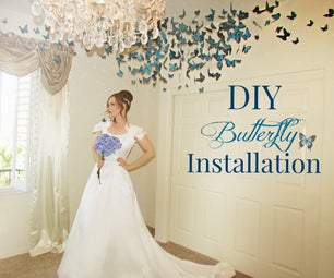 DIY Butterfly Installation  (Wedding Decor)