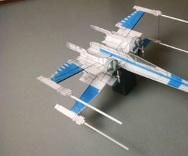 Easy and Relatively cheap Flying RC X-Wing Star Fighter from Star Wars