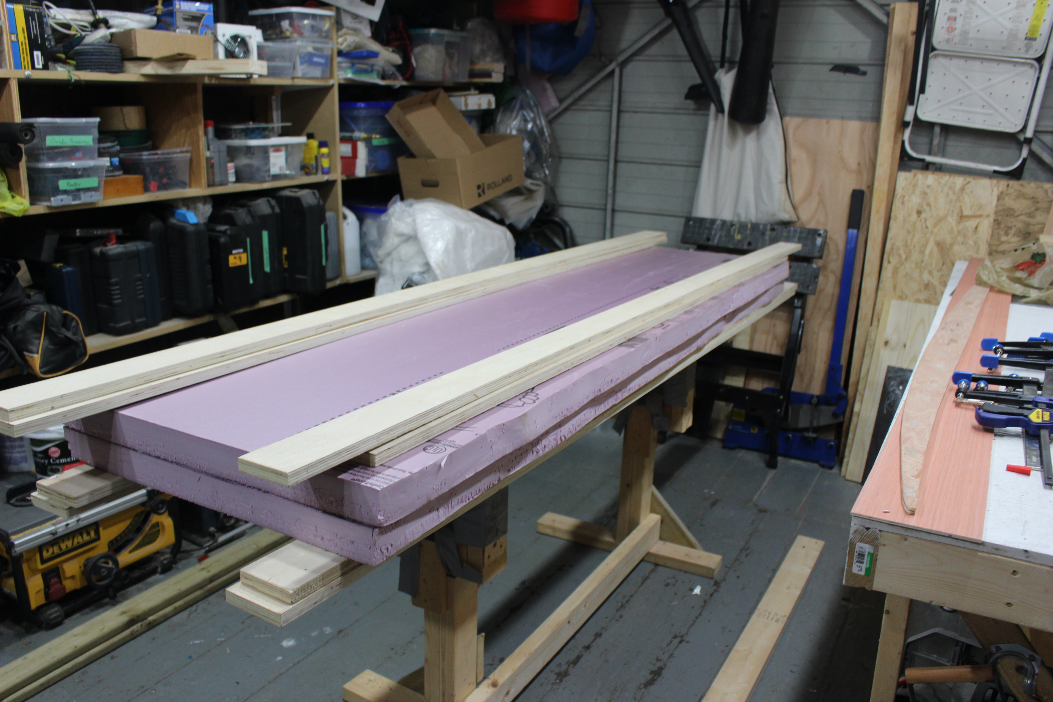 Picture of Gluing the Foam Sheets
