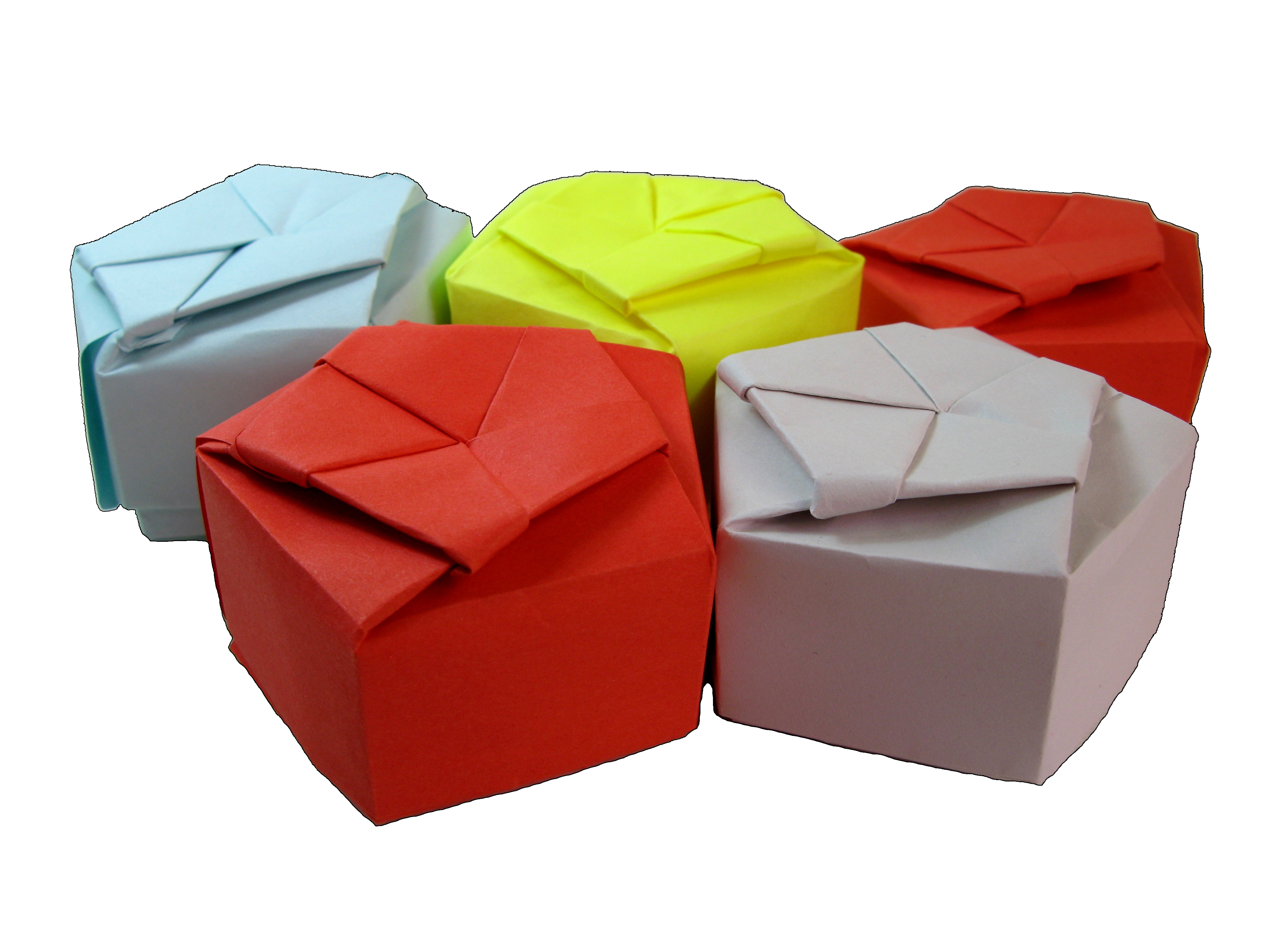 Picture of Paper Origami Pentagonal Gift Box