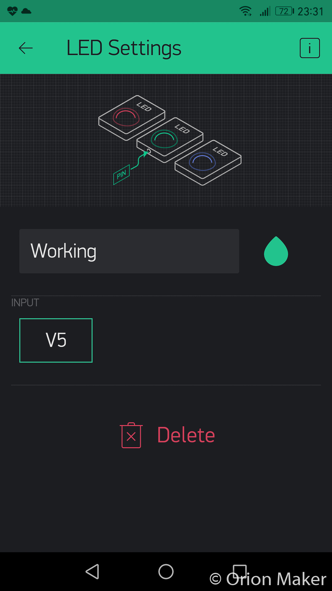 Picture of Create IoT Automatic Plant Watering System App