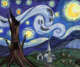 Starry Fright- A Post Impressionist How-To