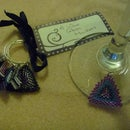 Beaded wine glass markers/charms