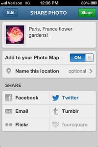 (Optional) Add Sharing Destinations