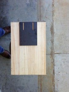 Attaching the Butcher Block to the Steel Pieces