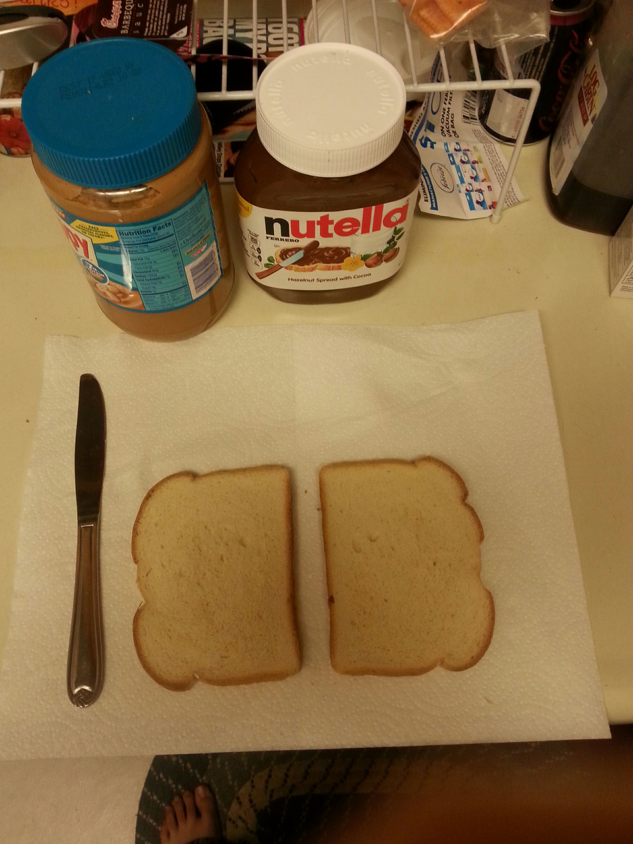 Picture of Nutella and Peanut Butter Sandwich