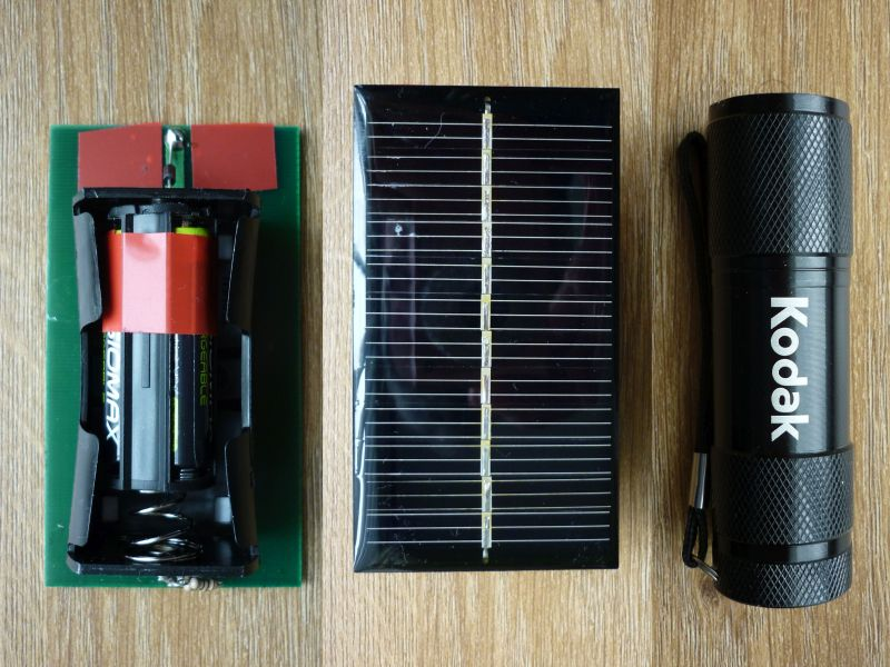 Picture of Solar Charge a Cheap 9 LED Torch