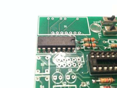 Place and Solder the 16-pin 595 Mux Expander Chip
