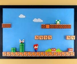 3-D Super Mario Papercraft Magnet Board