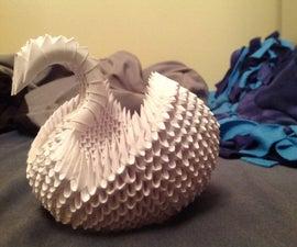 3D Modular Origami Swan