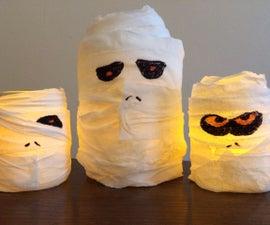 Spooky Halloween Mummy Jar Lanterns