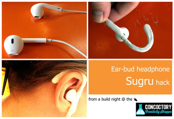 Sugru Hacked Headphones
