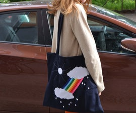 """""""somewhere over the rainbow"""" tote bag"""