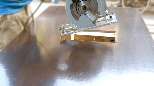 Create a Hole With Dimensions Corresponding to the Circular Saw