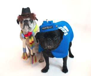 Dr. Who and Tardis Halloween Pet Costume