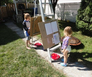 Quick and Dirty Easel for Kids