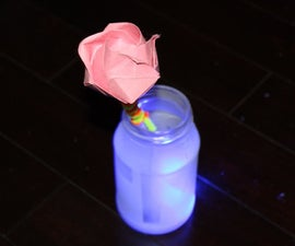 Frosted Glowing Flower Vase