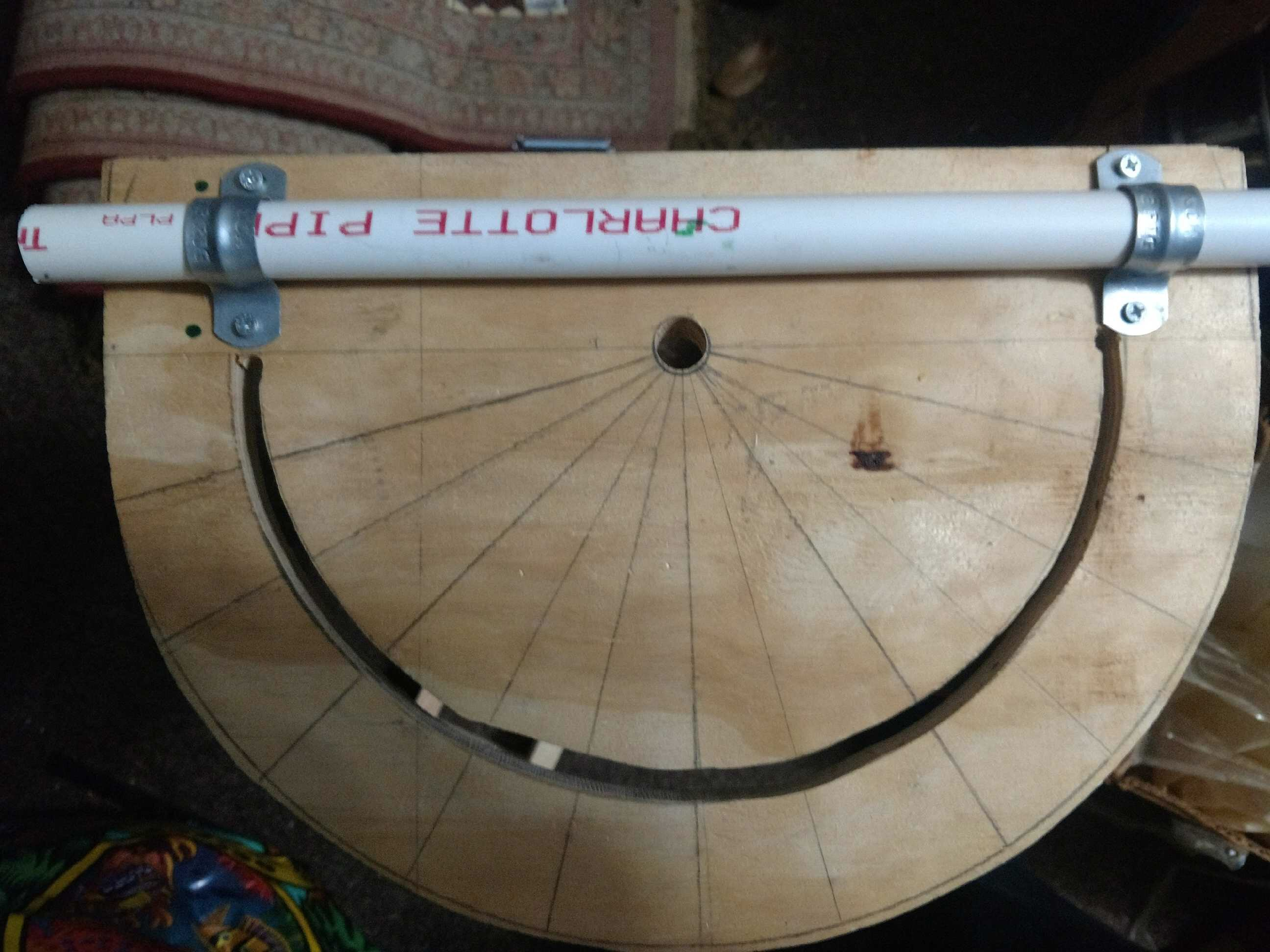 Picture of Attach the Protractor to the PVC Pipe