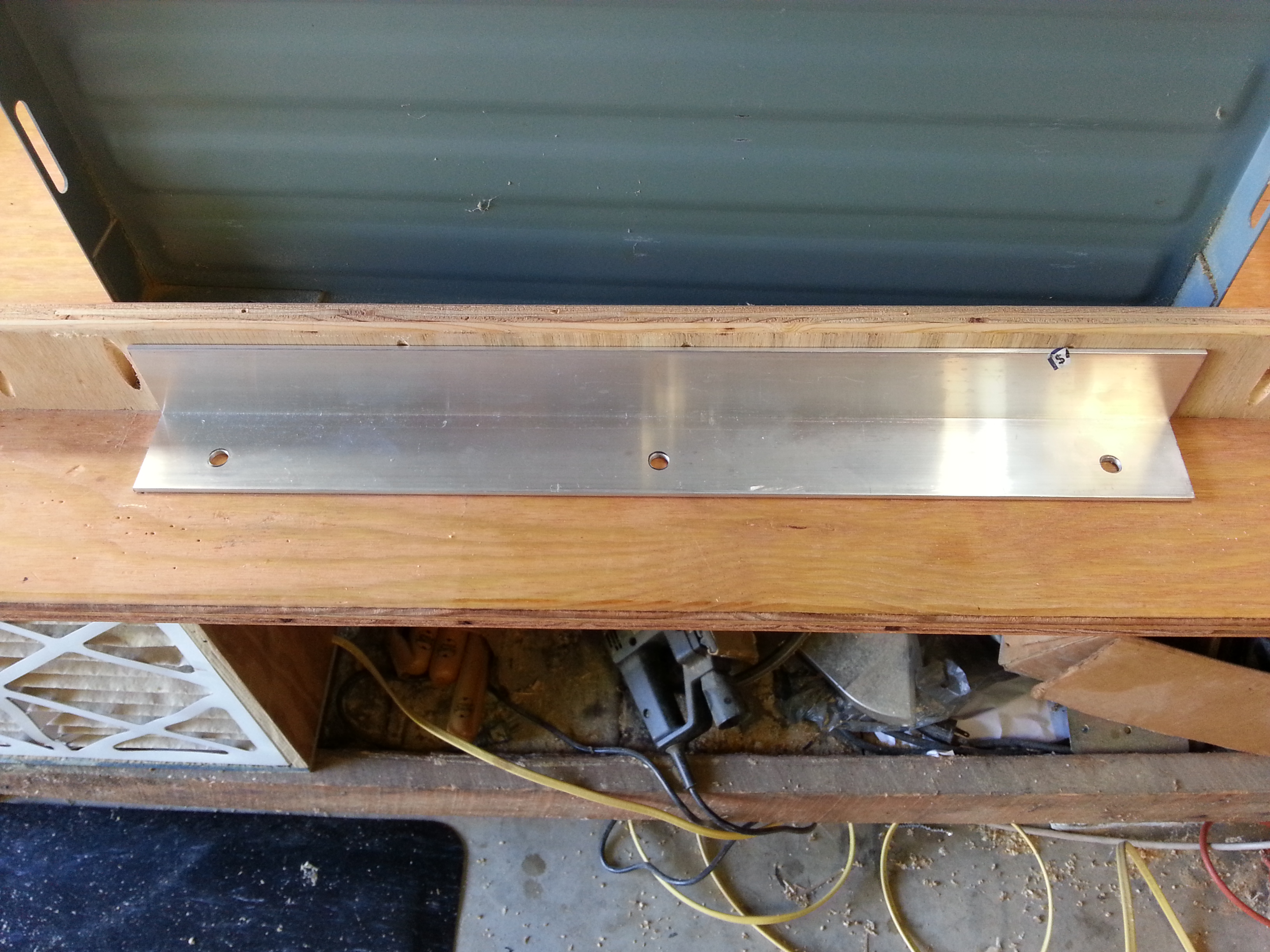 Picture of Remove Existing Table Saw Extension and Attach Angle Bracket