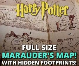 Marauder's Map - With Hidden Footprints! (Full Size Replica)