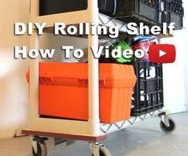 DIY Rolling Shelves